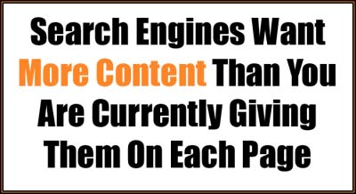search engines want more content