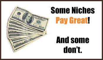 some niches pay great and some don't