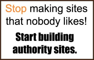 Stop Making Bad Websites - Start Building Authority Sites