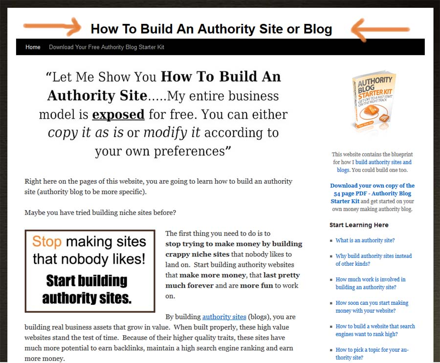 The Anatomy of a Small Basic Authority Site